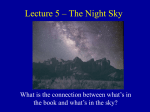 Lecture 5 – The Night Sky