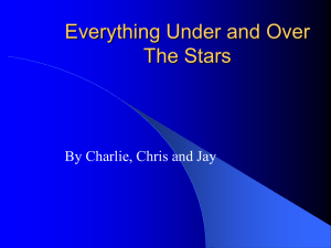Everything Under and Over The Stars