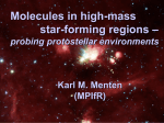 Molecules in high-mass star