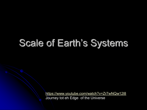 Scale of the Cosmos ppt.