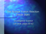 The Nuclear Fusion Reaction Inside Stars