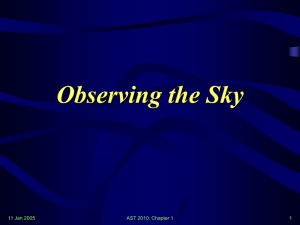 Sky & Astronomy - Wayne State University Physics and Astronomy