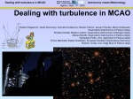 Dealing with turbulence in MCAO
