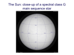 The Sun: close-up of a spectral class G main sequence star
