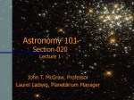 Astronomy 101 Section 4