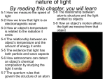 Week3 lecture part 2: nature of light