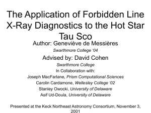 The Application of Forbidden Line X-Ray Diagnostics to the Hot Star