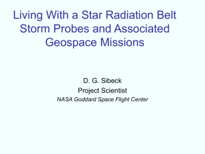 Living With a Star Radiation Belt Storm Probes and Associated