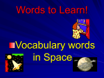 Space Vocabulary - Primary Grades Class Page