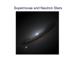 31 October: Supernovae and Neutron Stars