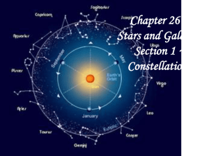 Chapter 26 ~ Stars and Galaxies Section 1 ~ Constellations