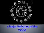 5 Major Religions of the World