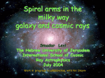Spiral arms in the milky way galaxy and cosmic rays