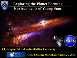 Exploring the Planet Forming Environments of Young Suns