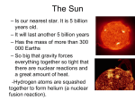 The Sun - rosedalegrade9astronomy