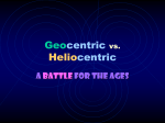 Geocentric vs. Heliocentric