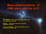 Mass determinations of PMS stars with the