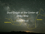 Dust Clouds at the Center of Milky Way