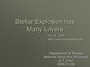 Stellar Explosion has Many Layers