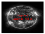Chapter 5 Lesson 1: The Sun
