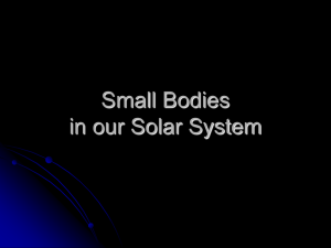 Small Bodies in our Solar System