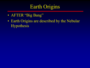 Geologic Time and Origins of the Earth