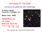 astro2_lec1 - Astronomy & Astrophysics Group