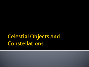 SNC1PL Celestial Objects and Constellations