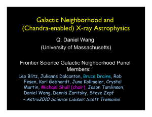 Galactic Neighborhood and  (Chandra-enabled) X-ray Astrophysics Q. Daniel Wang