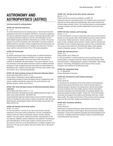 ASTRONOMY AND ASTROPHYSICS (ASTRO)