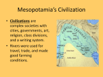Mesopotamia`s Civilization
