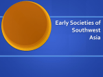 Early Societies of Southwest Asia