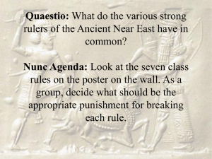 Quaestio: What do the various strong rulers of the Ancient