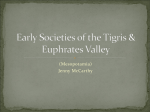 Early Societies of the Tigris & Euphrates Valley