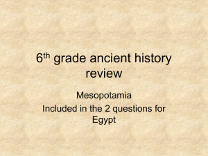 6th grade ancient history review