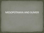 MESOPOTAMIA AND SUMER