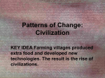 Civilization KEY IDEA Farming villages produced extra food and