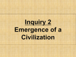 Emergence Civilization Class Notes 2015