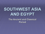 SOUTHWEST ASIA AND EGYPT