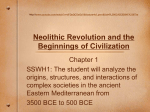 Neolithic Revolution and the Beginnings of Civilization