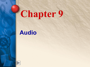Chapter 9 Audio