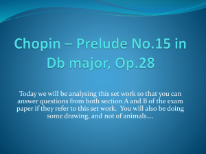 Chopin – Prelude No.15 in Db major, Op.28