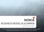 NOKIA BUSINESS MODEL & SCAMPER