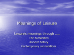Meanings of Leisure