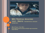 MS1 Textual Analysis promotional trailer – marketing Drive