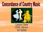Roots of Country Music - National Louis University