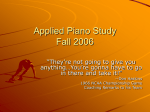 Applied Piano Study - Dena Kay Jones, Pianist