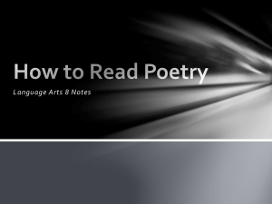 How to Read Poetry - Delano High School