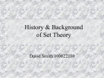 History & Background of Set Theory