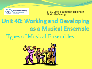 Working as a Musical Ensemble